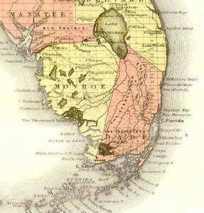 Map of South Florida, 1863