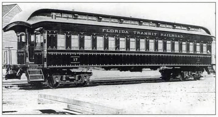 Photo of a Florida Transit Railroad Coach built in 1881